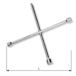 """Clé en croix 24 x 27 x 32 mm x 3/4"""" CrV"""