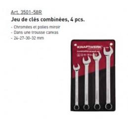 Jeu de 4 clés combinée COMBI 24-32 mm