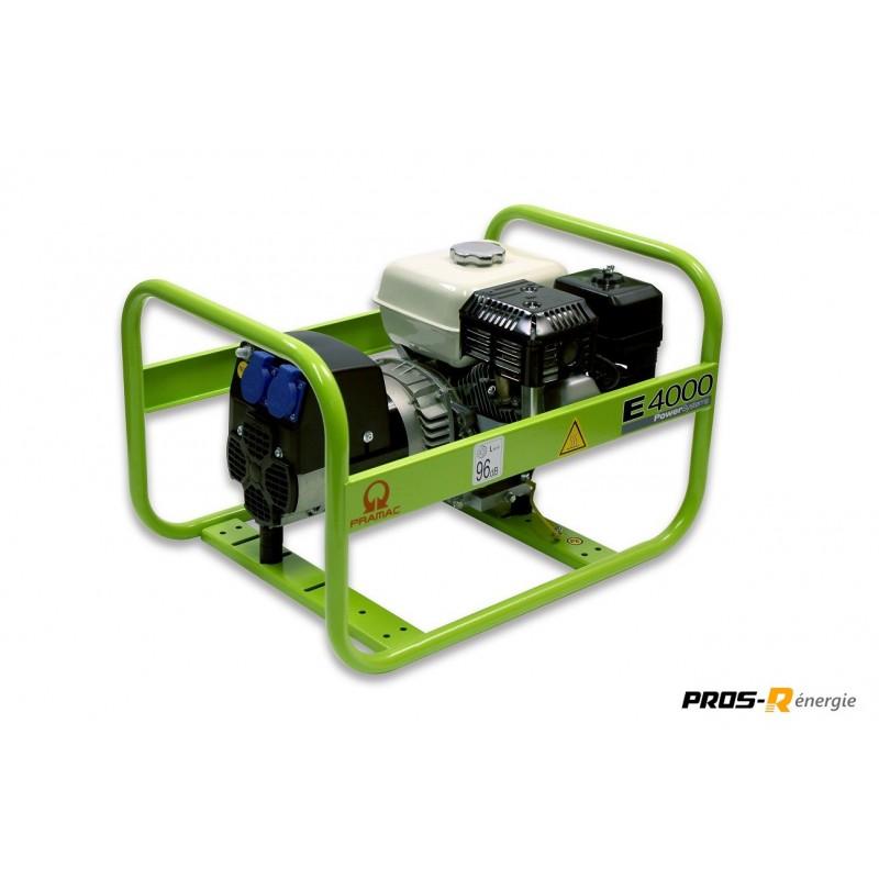 Groupe Électrogène 3,1 kW Essence 230 V E4000 PRAMAC