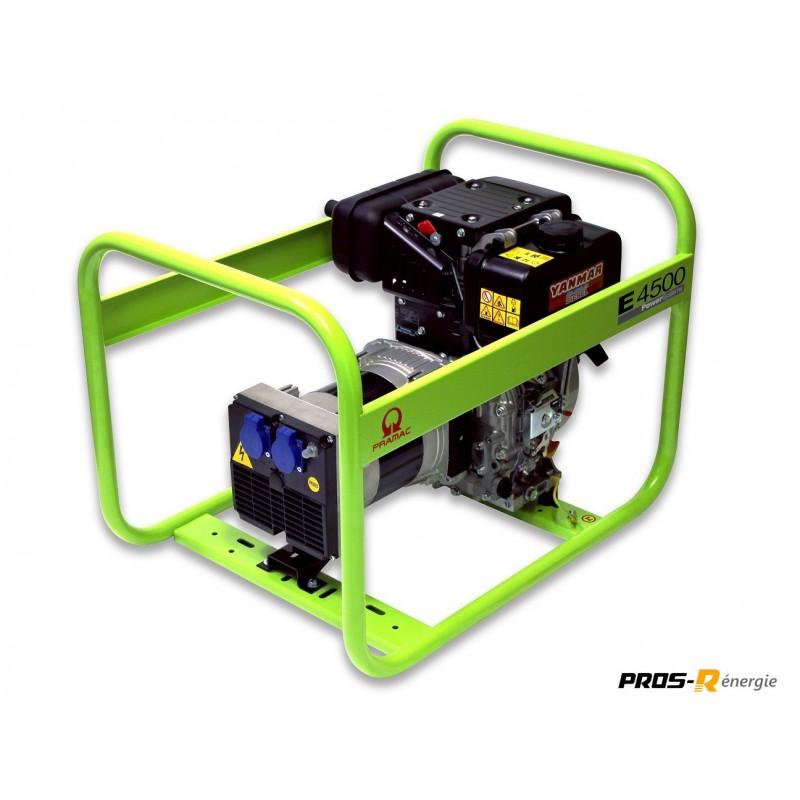 Groupe Électrogène 3,5 kW Diesel 400 V E4500 PRAMAC