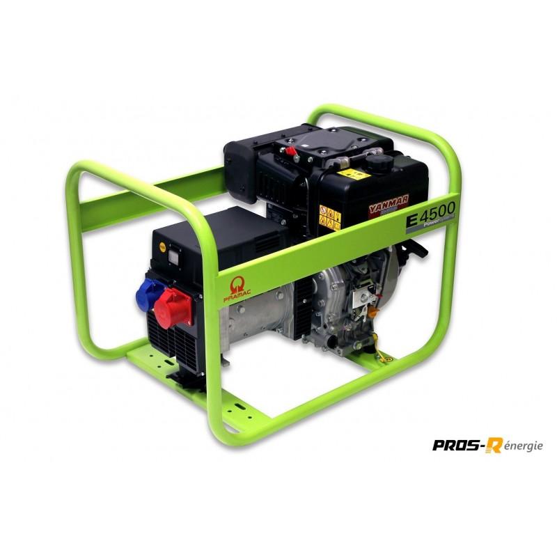 Groupe Électrogène 3,7 kW Diesel 400 V E4500T PRAMAC