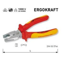Pince universelle VDE ergokraft 180 mm - KRAFTWERK
