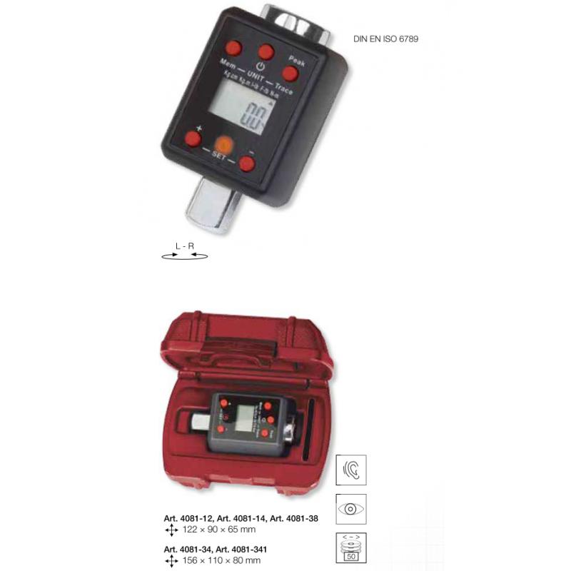 """Adaptateur dynamométrique numérique digital  3/8"""" 27-135 Nm - KRAFTWERK"""