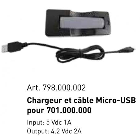 Chargeur et câble Micro-USB, 5 V / 1 A pour lampe LED COMPACT 500 Art. 701.000.000 - KRAFTWERK