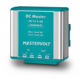 Convertisseur DC-DC Mastervolt - DC Master avec isolation galvanique 24V/12V - 6A/3A