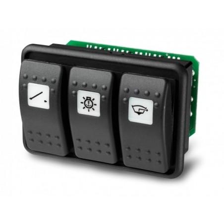Platine 3 interrupteurs (pour disjoncteur Carling) 3 PCB - Mastervolt