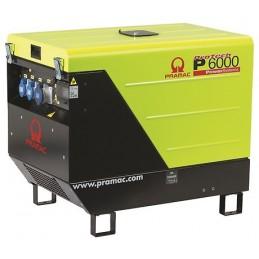 Groupe Électrogène portable PRAMAC P6000 - 230V 50HZ DIESEL MONOPHASE - ELECTRIQUE DPP + prise CONN + AVR