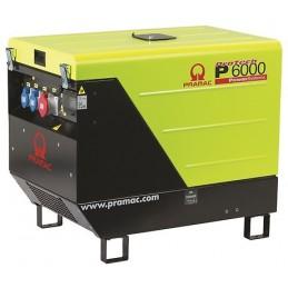 Groupe Électrogène portable PRAMAC P6000 TF - 400V 50HZ DIESEL TRIPHASE - ELECTRIQUE DPP + prise CONN + AVR