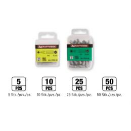 """Embout pour vis TX 1/4"""" L.25 mm - T8 à T50 - 5, 10 ou 50 pièces - KRAFTWERK"""