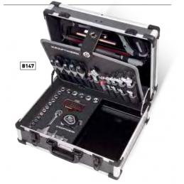 """Coffret d'outils B147, 3/8"""", avec bol en plastique - 97 pièces"""