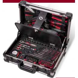 """Coffret d'outils Pro Line, 1/4"""", avec outils isolés VDE - 123 pièces"""