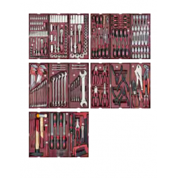 Servante d'atelier P308 avec outils, 290 pièces - KRAFTWERK