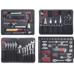 "Coffret d'outils B147, 1/4""+1/2"", 158 pièces- KRAFTWERK"