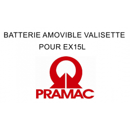 BATTERIE AMOVIBLE VALISETTE POUR EX15L Lithium E4 Ref.EXQ4EI00T00 - PRAMAC