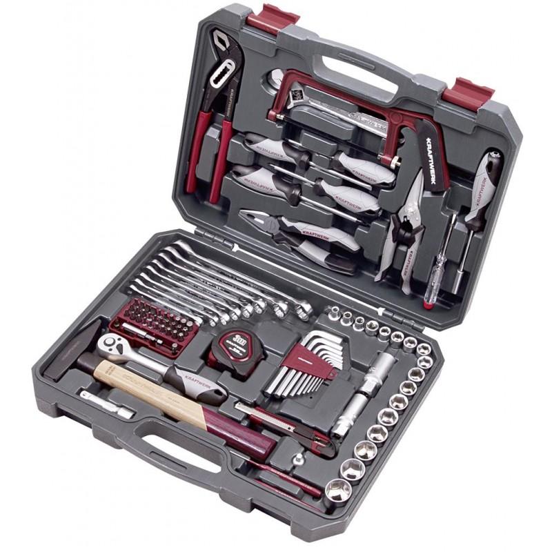 """Coffret d'outils Basic-Line, 3/8"""", 90 pièces - KRAFTWERK"""