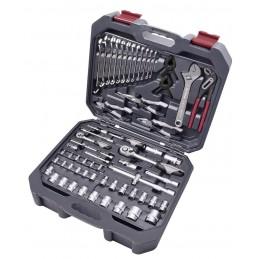 """Coffret d'outils Basic Line, 1/4"""" + 1/2"""", 266 pièces - KRAFTWERK"""