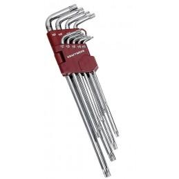 Jeu de 9 clés TX polies miroir T10 à T50  - KRAFTWERK