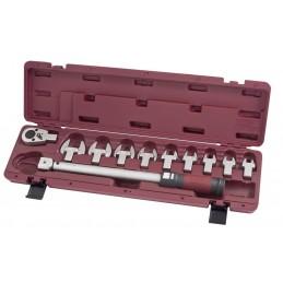 """Coffret de clé dynamométrique à déclenchement sensoriel haute performance 1/2"""" 11 pièces  40-200 Nm (30-150 Lb.ft) - KRAFTWERK"""