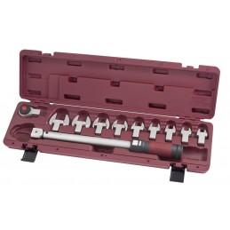 """Coffret de clé dynamométrique à déclenchement sensoriel dentures fines 1/2"""" 11 pièces  65-335 Nm (50-520 Lb.ft) - KRAFTWERK"""
