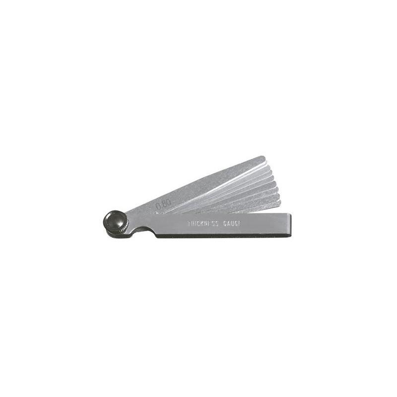 Jauges d'épaisseur 10 lames 0.05-0.8 mm - KRAFTWERK