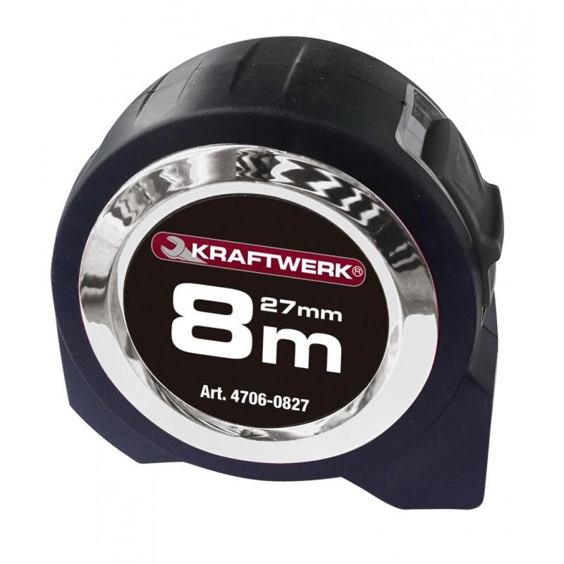 Mètre à ruban professionnel 8 m x 27 mm - KRAFTWERK