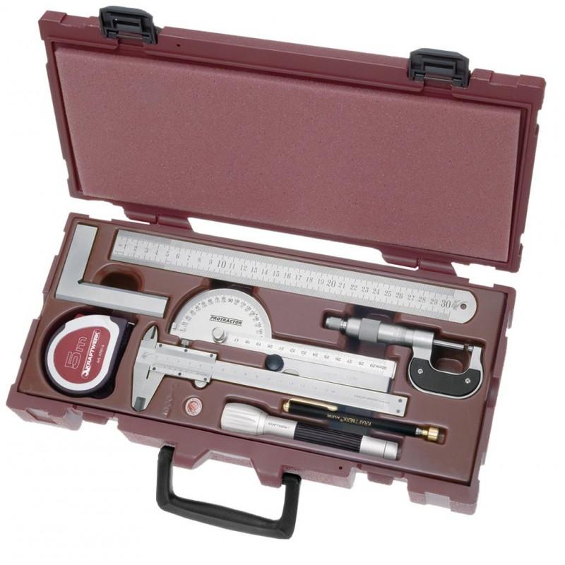 Coffret d'outils de mesure COMPLETO 9 pièces - KRAFTWERK