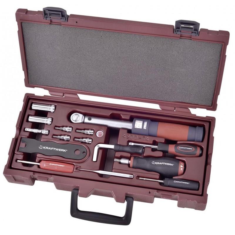 """Coffret d'outils pour capteur de pression de pneu 1/4"""" COMPLETO, 15 pièces - KRAFTWERK"""