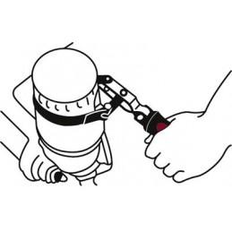 Clé à sangle pour filtre à huile 95-111 mm - KRAFTWERK