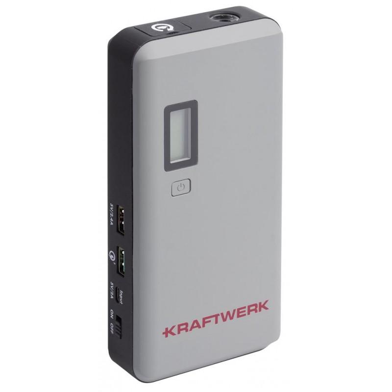 Booster de démarrage + Powerbank, 12V, 400CA - 800PA, 37Wh - KRAFTWERK