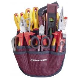 Jeu d'outils pour l'électricien trousse, 20 pièces - KRAFTWERK