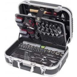 "Coffret d'outils B100, en ABS, 1/4"" + 1/2"", 170 pièces- KRAFTWERK"