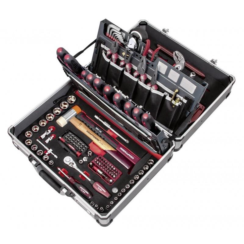 """Coffret d'outils P500 ,ERGO+HIGHTECH, pour service, 3/8"""", HT, 154 pièces- KRAFTWERK"""
