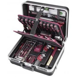 """Coffret d'outils P300, ABS, 1/4"""" + 3/8"""" -  186 pièces- KRAFTWERK"""