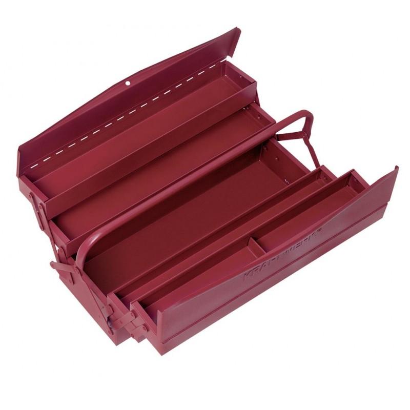 Caisse à outils 5 compartiments 43x20x20 cm - sans outils - KRAFTWERK