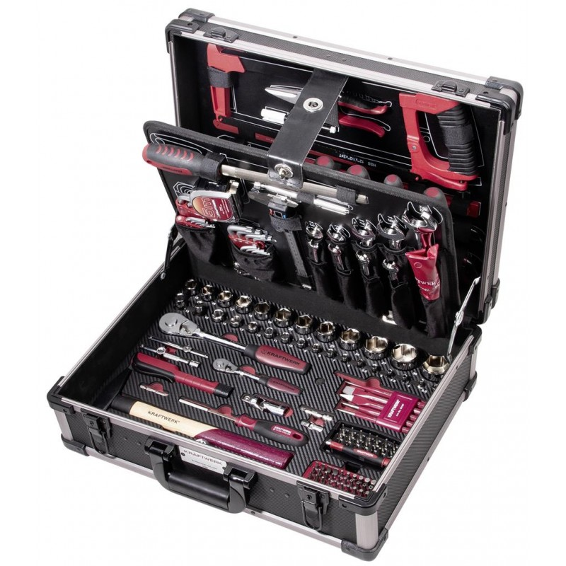 """Coffret d'outils Pro Line, 1/4""""+ 1/2"""",   263 pièces - KRAFTWERK"""