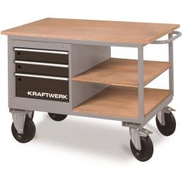 Chariot d'atelier 3 tiroirs et 2 étagères