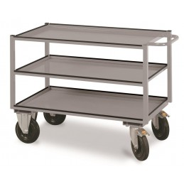 Table trolley with 3 loading areas, 810x1300x600 mm, 51 KG