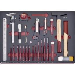 Jeu d'outils de frappe, de coupe et de mesure COMPLETO EVA, 41 pièces - KRAFTWERK