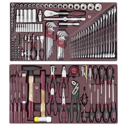 Jeu d'outils d'atelier, 160 outils, servante 3917- KRAFTWERK