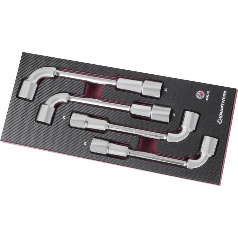 Coquille clés à pipe débouchées, EVA3 20-24 mm, 4 pièces - KRAFTWERK