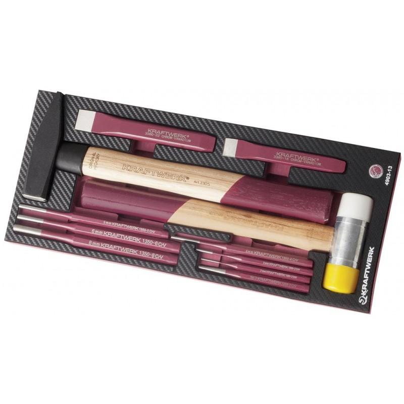 Insert EVA3 d'outils de frappe, 11 pièces - KRAFTWERK