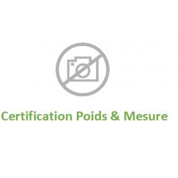 Certification poids& mesure...
