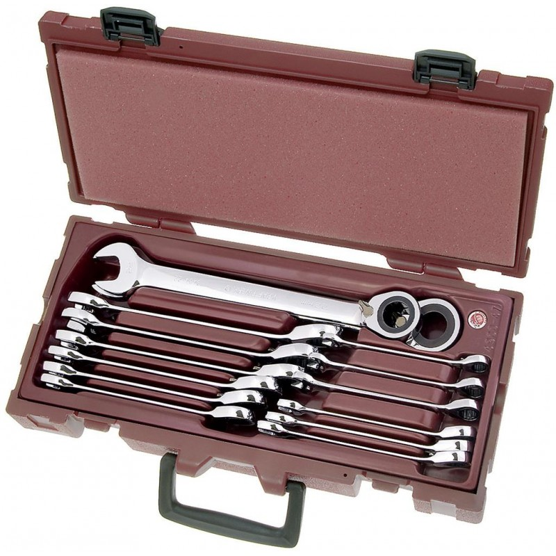 Coffret  4 clés combinées à cliquet réversible COMPLETO - de 8 à 24 mm - KRAFTWERK