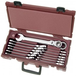 Coffret  14 clés combinées à cliquet articulées CK COMPLETO - de 8 à 24 mm - KRAFTWERK