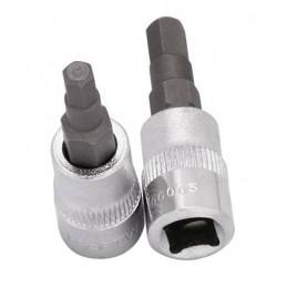 """Douille-embout hexagonale 1/4"""" 6 pans creux - 3 à 8 mm- KRAFTWERK"""